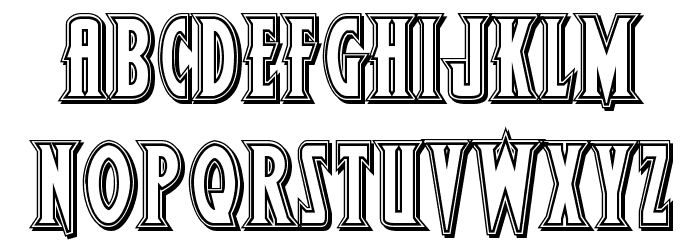 Wolf's Bane II Engraved Font LOWERCASE
