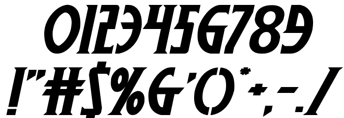 Wolf's Bane II Expanded Italic Polices AUTRES CHARS