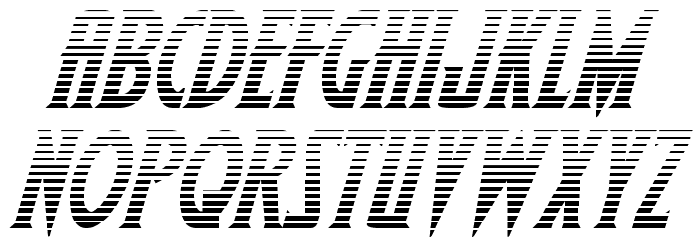 Wolf's Bane II Gradient Italic フォント 大文字