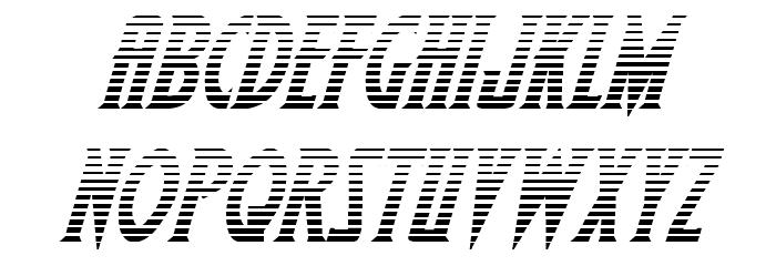 Wolf's Bane II Gradient Italic Caratteri MINUSCOLO