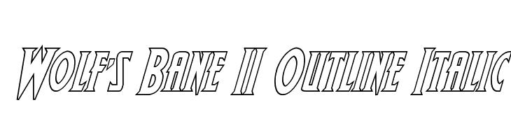 Wolf's Bane II Outline Italic Caratteri