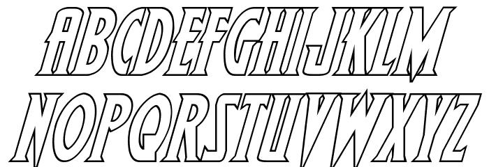 Wolf's Bane II Outline Italic फ़ॉन्ट अपरकेस