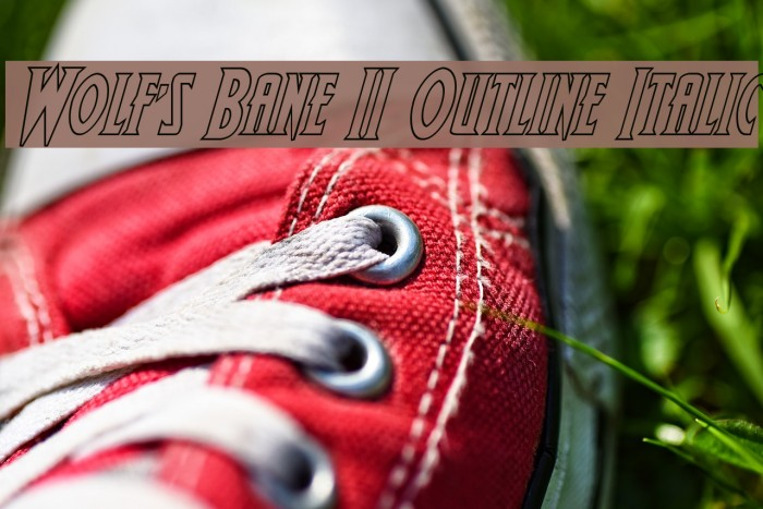 Wolf's Bane II Outline Italic फ़ॉन्ट examples