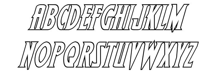 Wolf's Bane II Outline Italic Schriftart Kleinbuchstaben