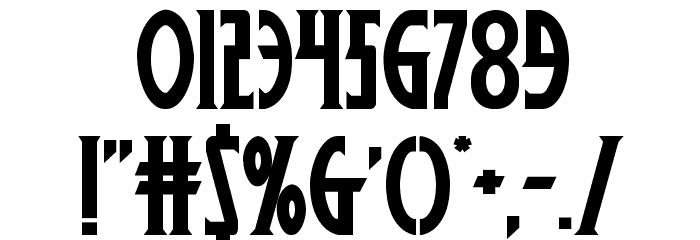 Wolf's Bane II Regular Font OTHER CHARS