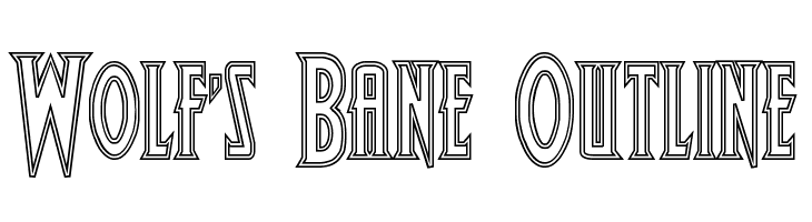 Wolf's Bane Outline  Free Fonts Download