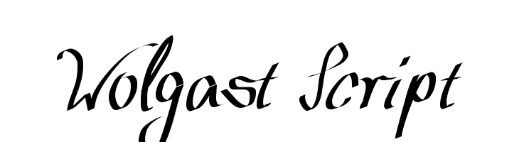 Wolgast Script  Free Fonts Download