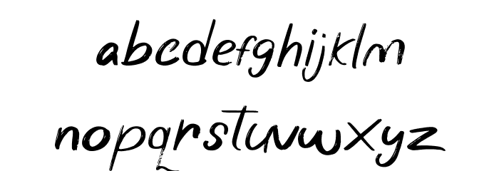 Wonder Scribble Font LOWERCASE