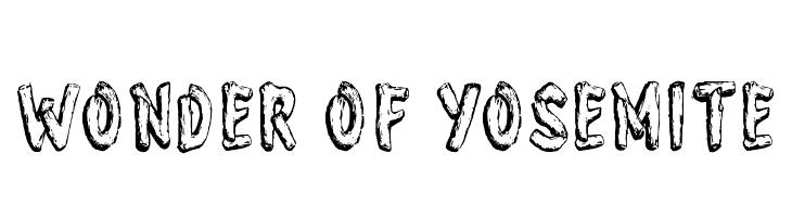 Wonder of Yosemite  Free Fonts Download