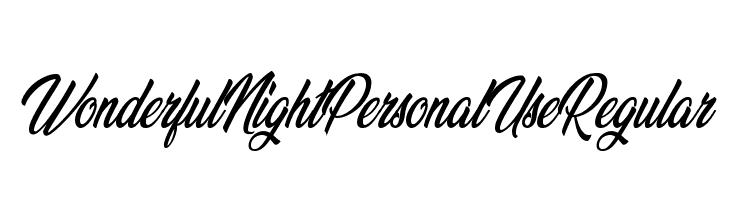 Wonderful Night Personal Use Regular Font