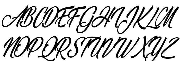Wonderful Night Personal Use Regular Font UPPERCASE