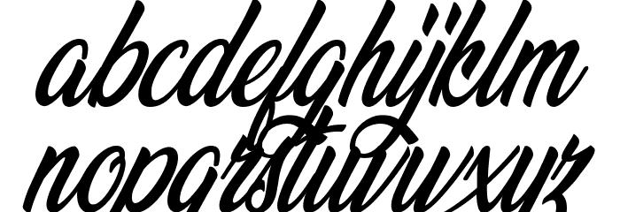 Wonderful Night Personal Use Regular Font LOWERCASE