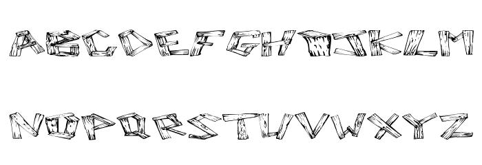 Wood 2 Font Litere mari