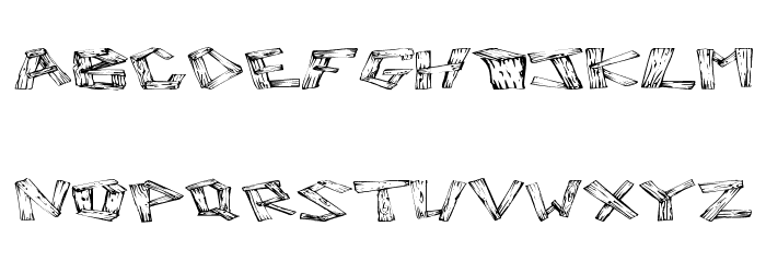 Wood 2 Шрифта ВЕРХНИЙ