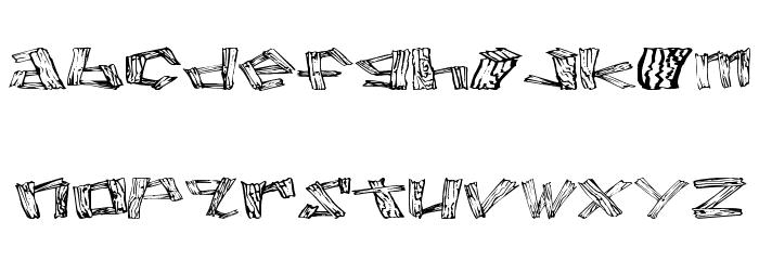 Wood 2 Font LOWERCASE