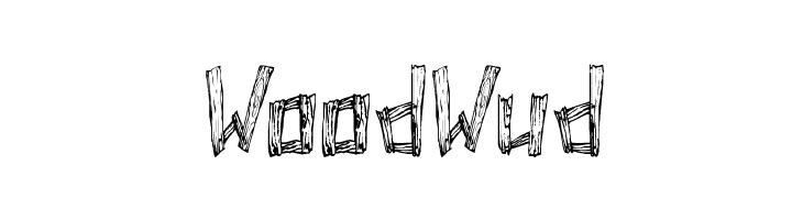 WoodWud  Скачать бесплатные шрифты