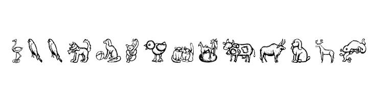 WoodcutAnimals  les polices de caractères gratuit télécharger