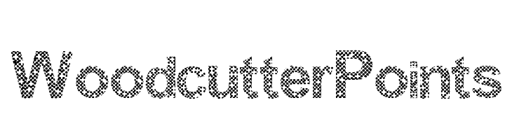 Woodcutter Points  Free Fonts Download