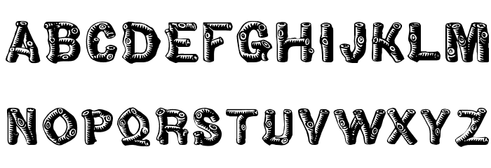 Woody Font LOWERCASE