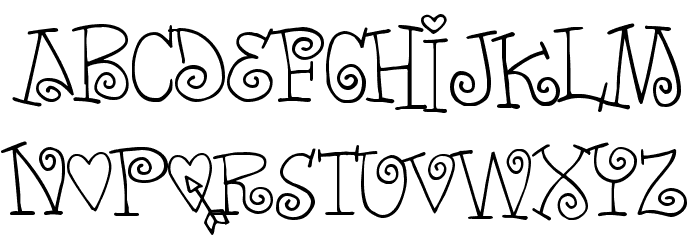 words of love フォント jp free fonts download