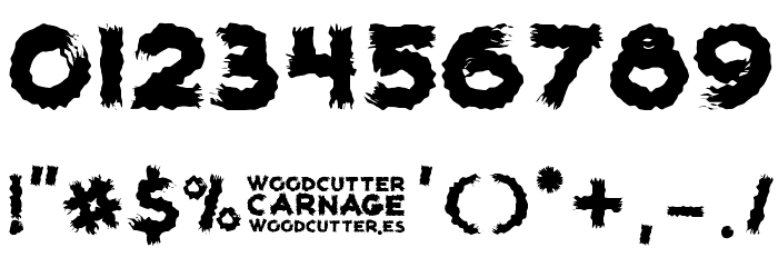 woodcutter carnage Шрифта ДРУГИЕ символов