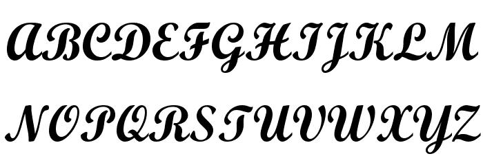 Wrexham Script Fonte MAIÚSCULAS
