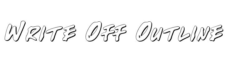 Write Off Outline  Скачать бесплатные шрифты