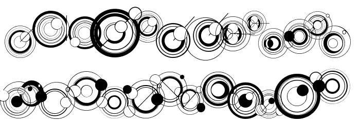 WS Simple Gallifreyan Font UPPERCASE