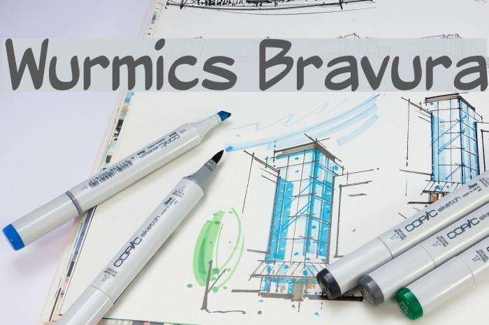 Wurmics Bravura Font examples