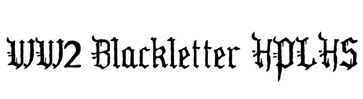 WW2 Blackletter HPLHS  Скачать бесплатные шрифты