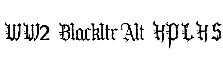 WW2 BlackltrAlt HPLHS Fonte