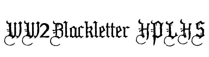 WW2Blackletter HPLHS  Free Fonts Download