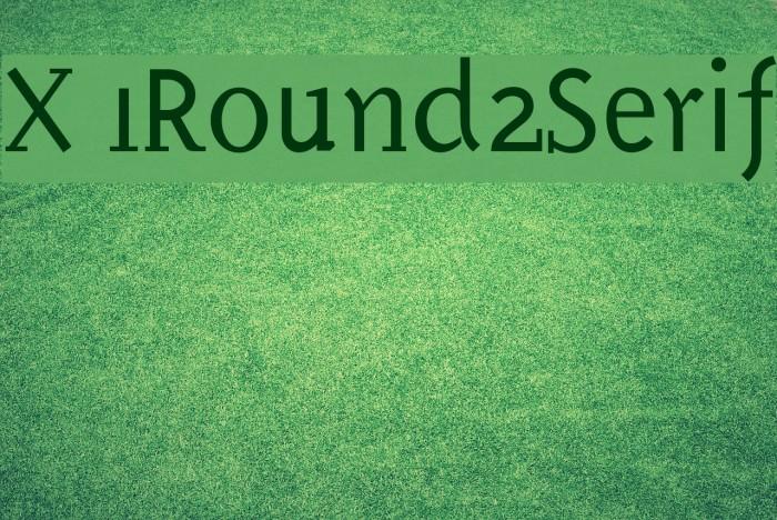 X 1Round2Serif Fonte examples