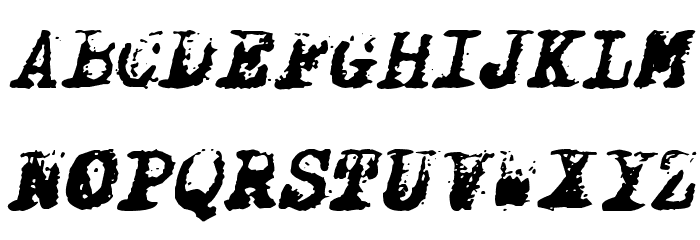X-Classified Italic Font UPPERCASE