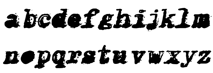 X-Classified Italic Font LOWERCASE