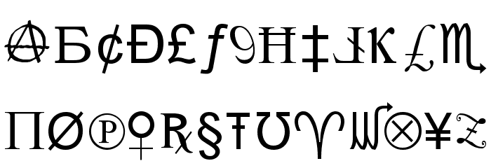 X-Cryption Font UPPERCASE