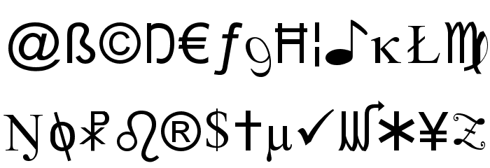 X-Cryption Font Litere mici