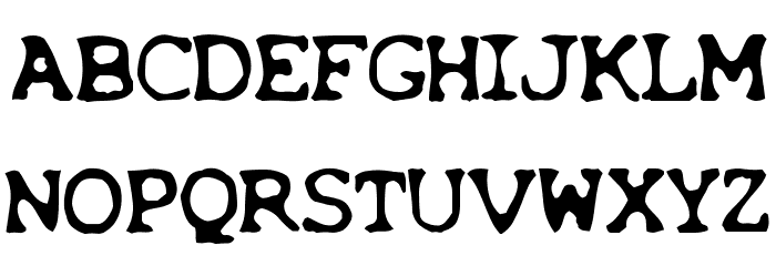 X-Files Font UPPERCASE