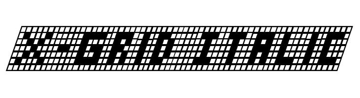 X-Grid Italic  Free Fonts Download