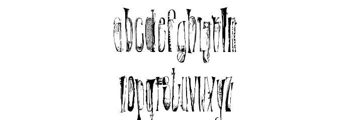 X-�ntrica Font LOWERCASE