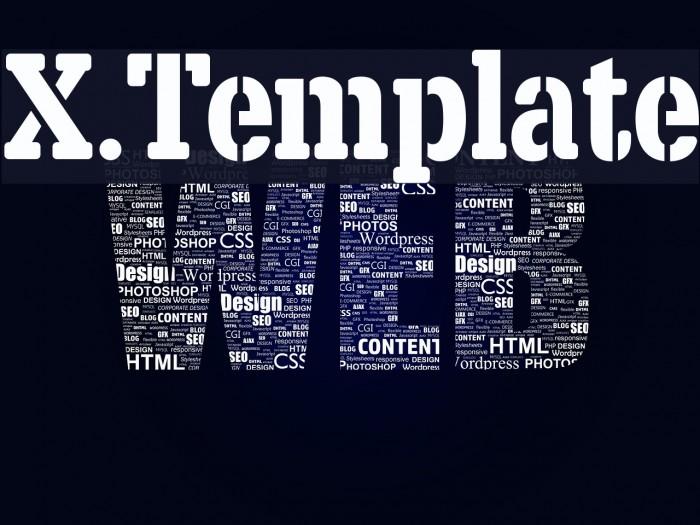 X.Template फ़ॉन्ट examples