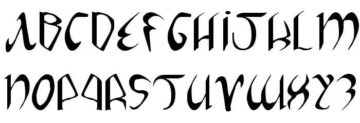 Xaphan Expanded フォント 大文字