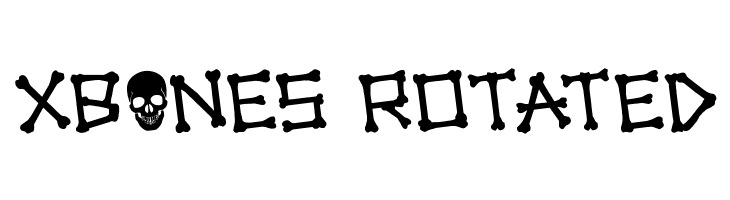 xBONES Rotated Font - free fonts download