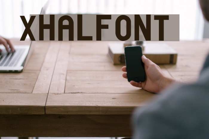 xhalfont फ़ॉन्ट examples
