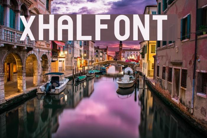 xhalfont Font examples