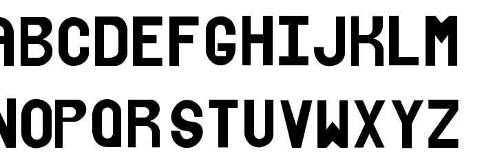 xhalfont Font LOWERCASE