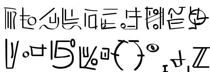 XiDus Lang ombwha フォント その他の文字