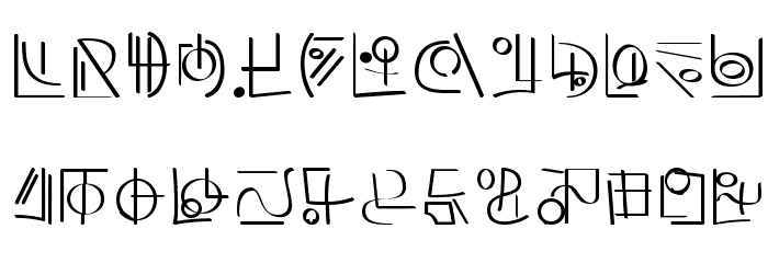XiDus Lang ombwha フォント 大文字