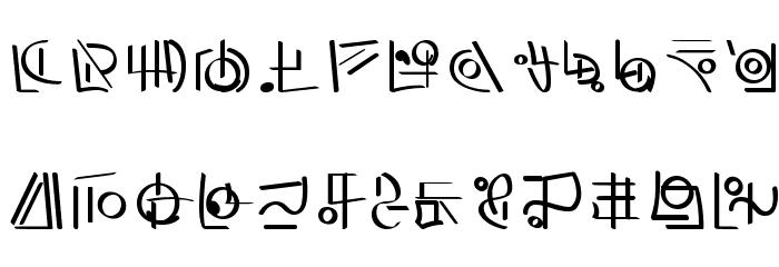 XiDus Lang ombwha フォント 小文字
