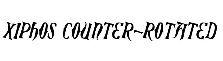 Xiphos Counter-Rotated  नि: शुल्क फ़ॉन्ट्स डाउनलोड